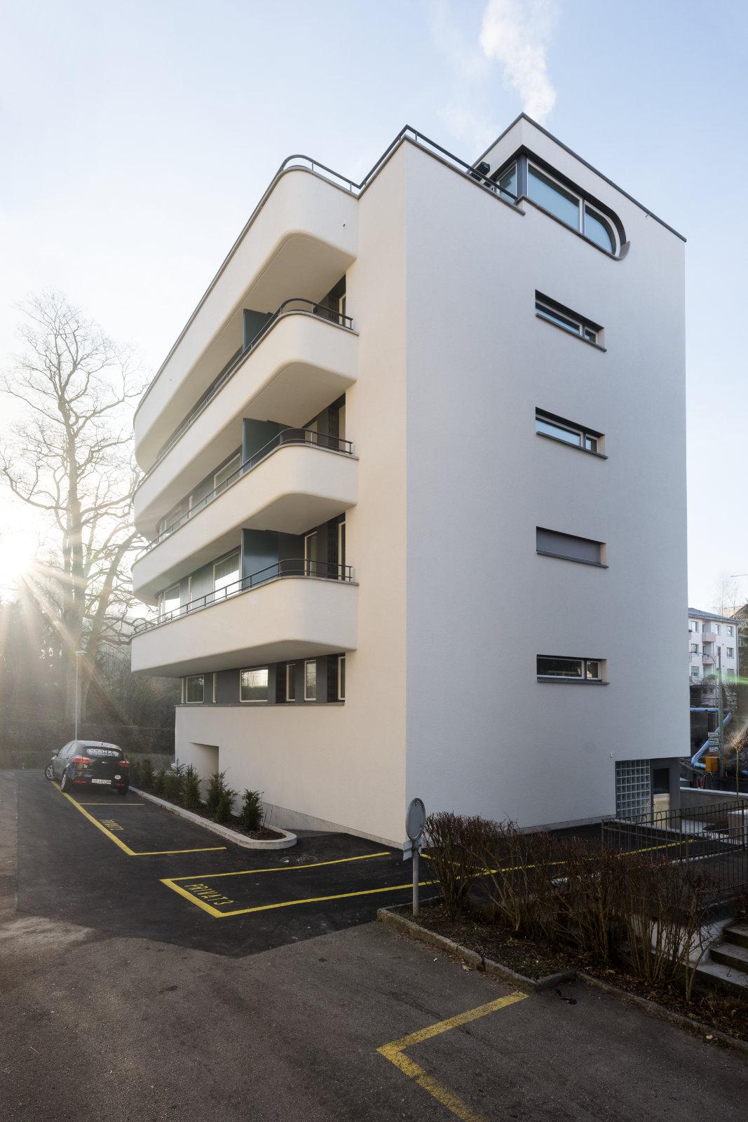 Zugang zum Mehrfamilienhaus an der Altmannstrasse in St. Gallen