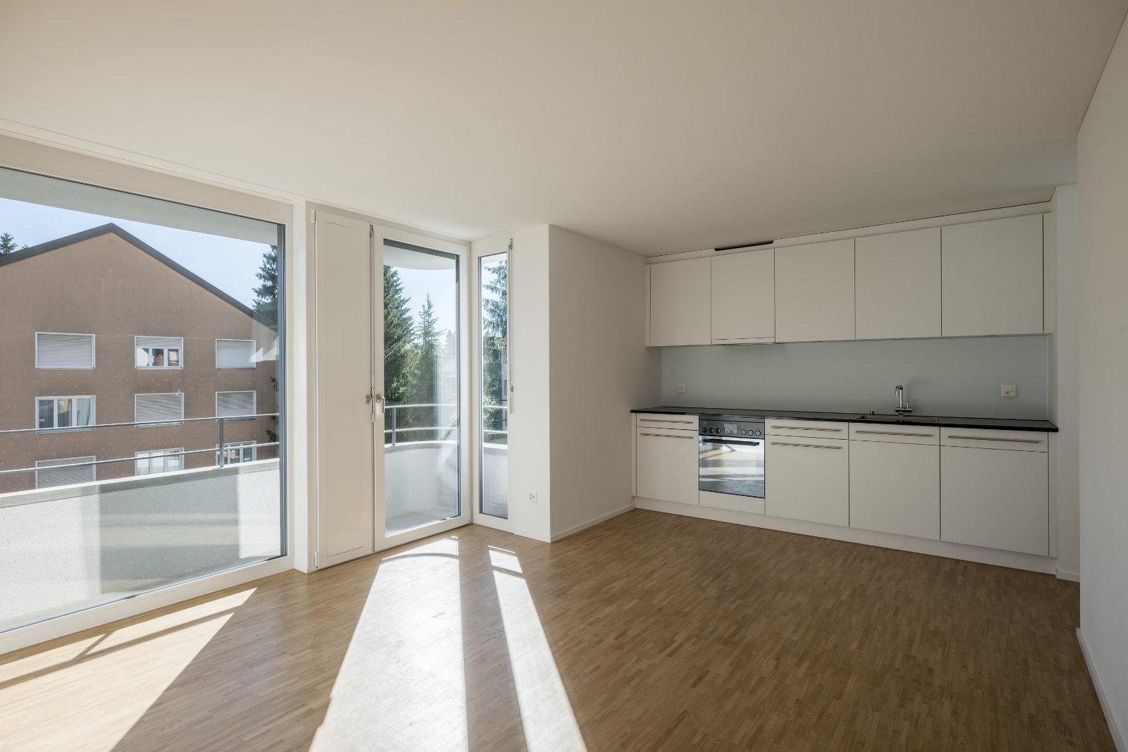 Wohnküche des Mehrfamilienhauses an der Altmannstrasse